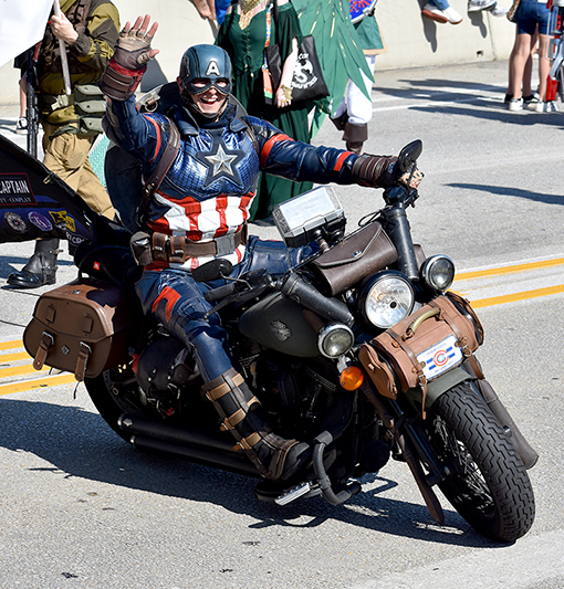 Captain America | Dragon Con Parade 2019 | Photo: Travis Swann Taylor