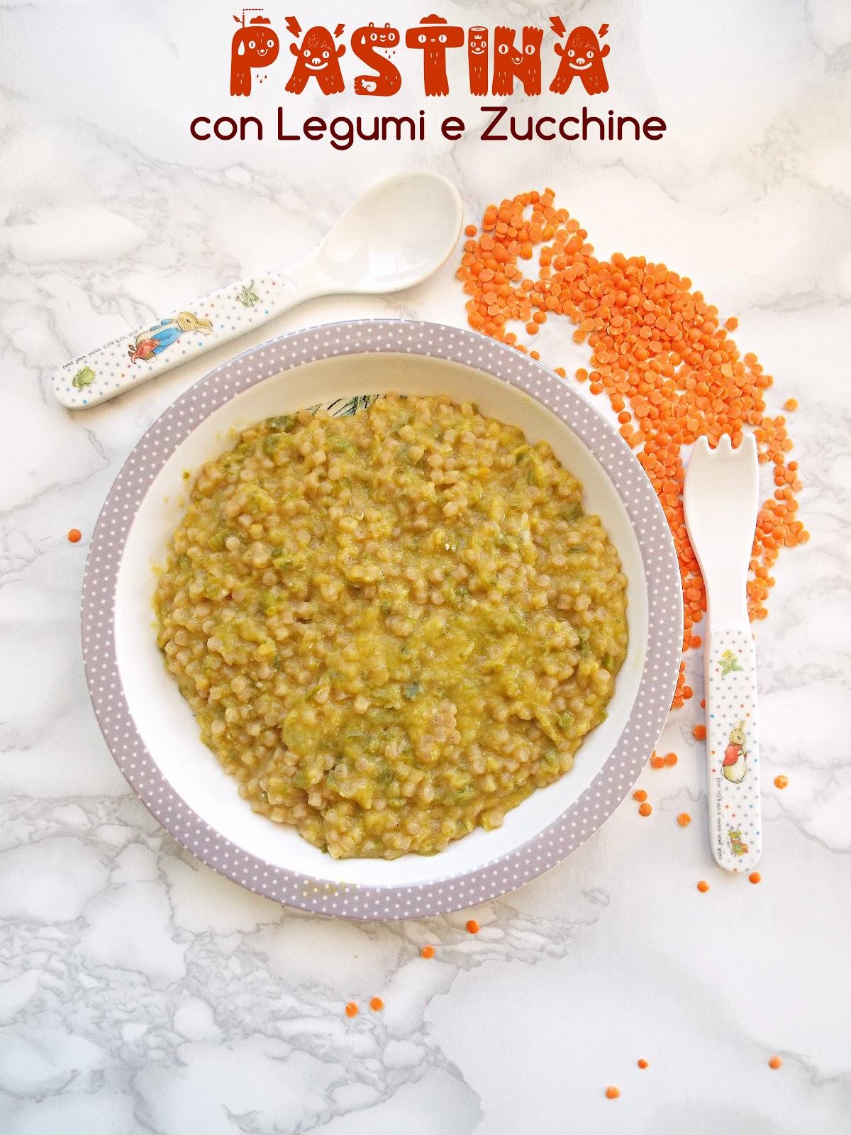 Ricetta Lenticchie Neonato.Svezzamento E Dintorni Pastina Con Legumi E Zucchine