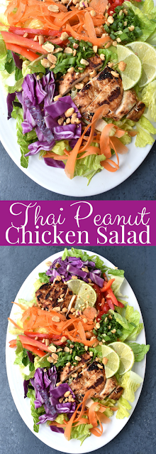 Thai Peanut Chicken Salad recipe