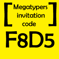 invitation code for megatypers