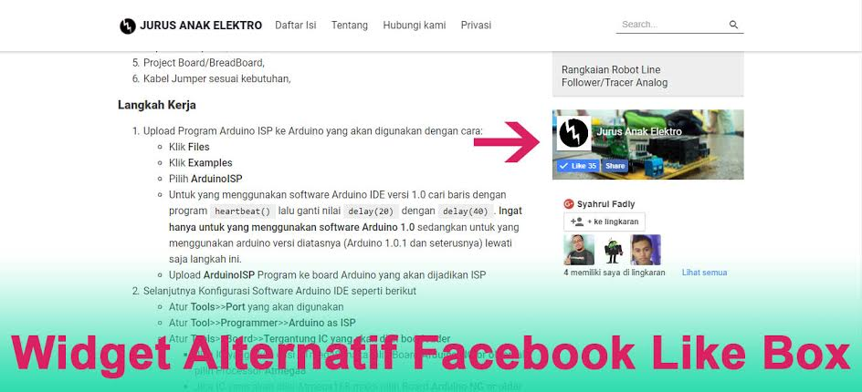 Widget Alternatif Facebook Like Box untuk Blog AMP