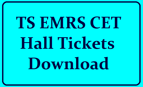 TS EMRS CET Hall Ticket 2021 Download
