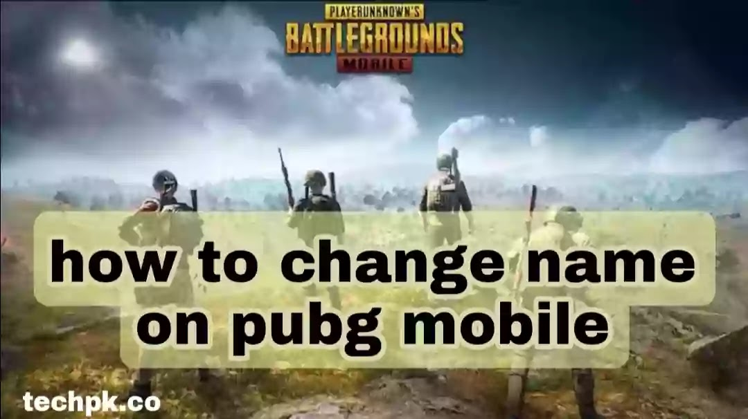 how to change name on pubg mobile