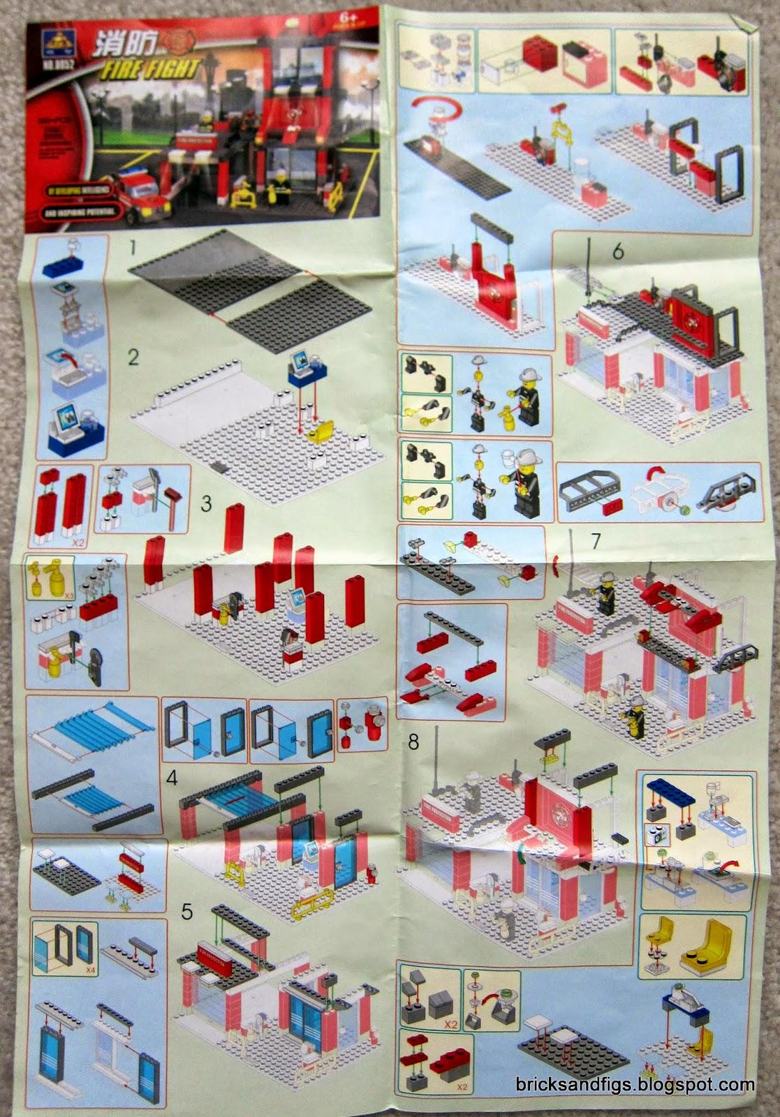 Bricks And Figures Kazi 8052 Fire Station