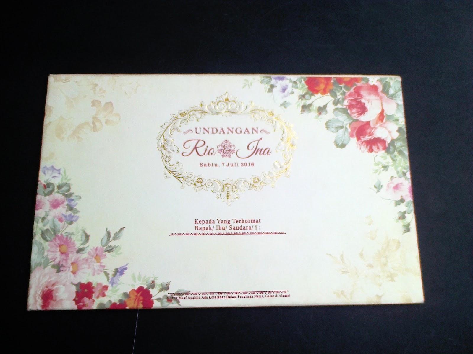 model undangan pernikahan semi hardcover elegan one card ...