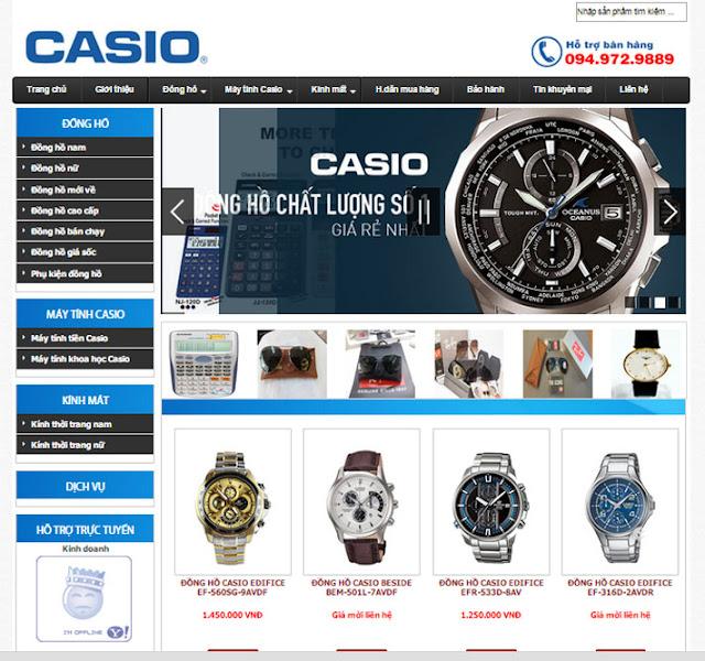 Thiết kế website bán đồng hồ đẹp cao cấp
