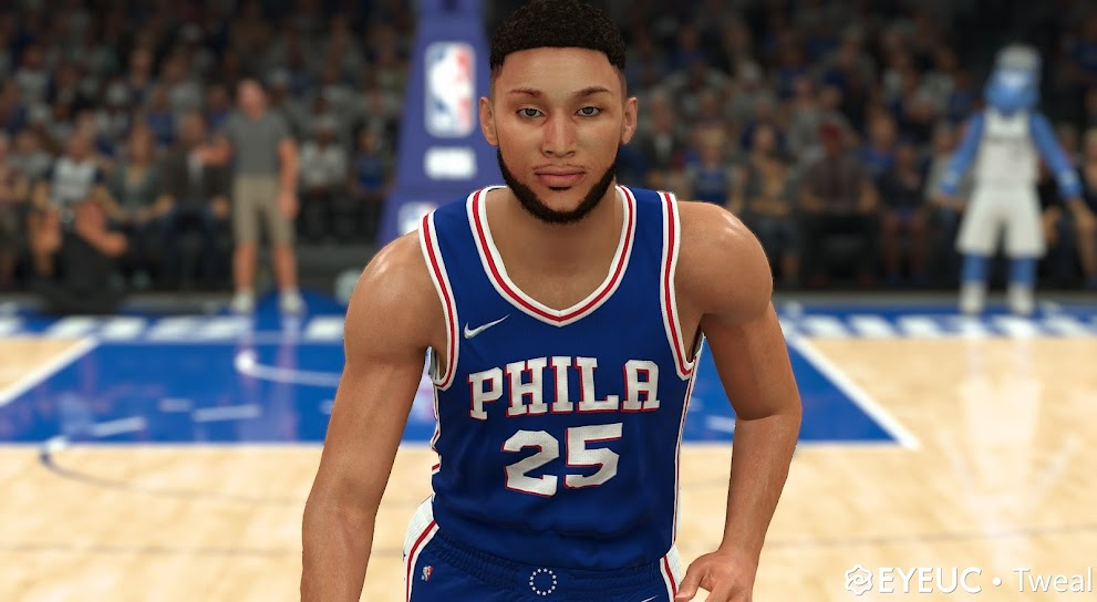 NBA 2K22 Ben Simmons Cyberface and BOdy Model V2 By TWEAL