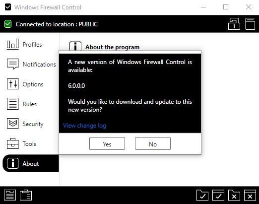 Binisoft windows firewall control