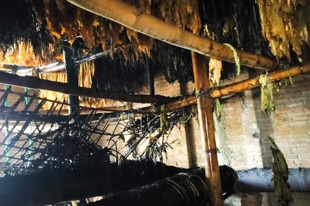 Oven tembakau Amaq Lidya terbakar, rugi Rp 60 juta