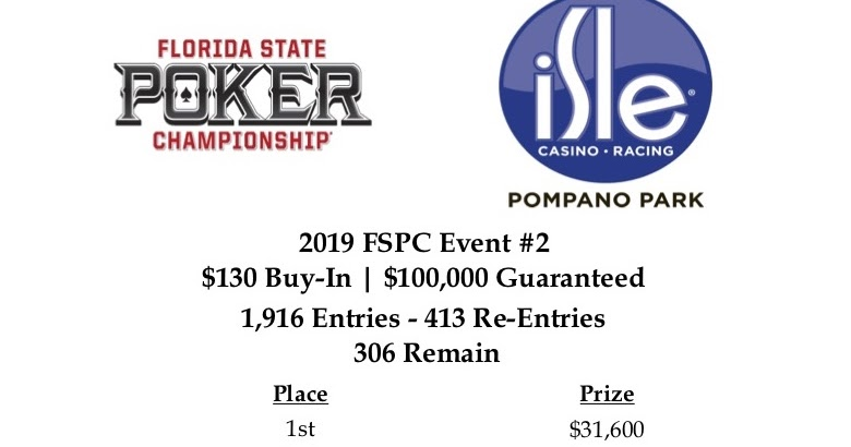 Isle Casino Poker : FSPC Event #2 (Day 2): Official Event #2