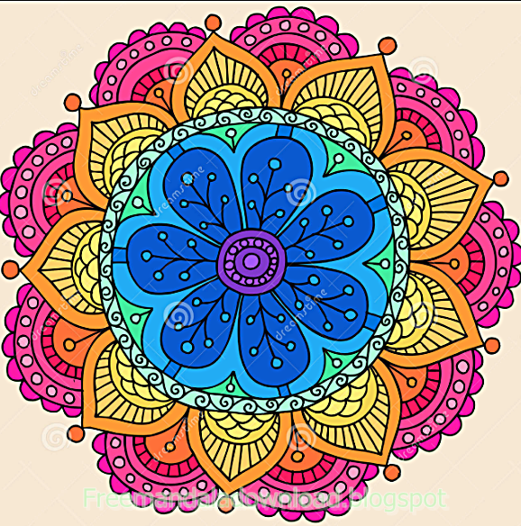 Adult Coloring Book Floral Design