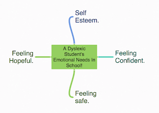 A dyslexic student's emotional needs.