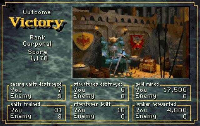 Warcraft 1 Victory Screenshot