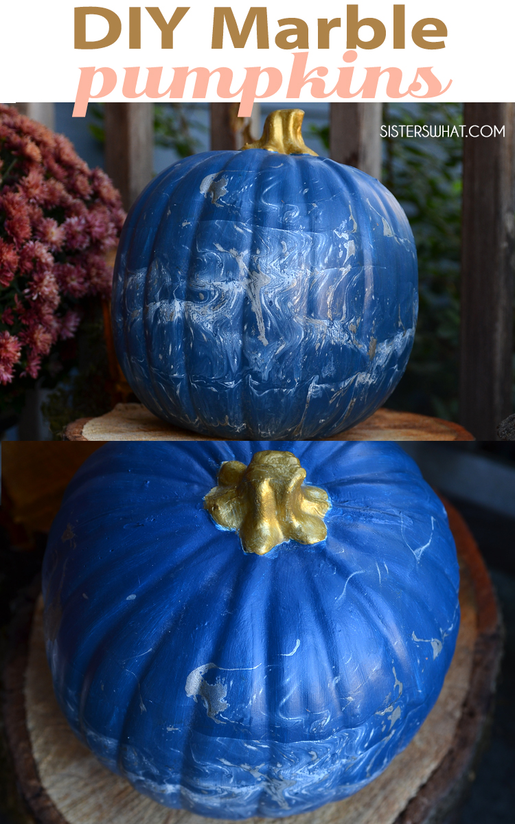 gold and silver marble pumpkin decoration ideas for cinderella fall theme