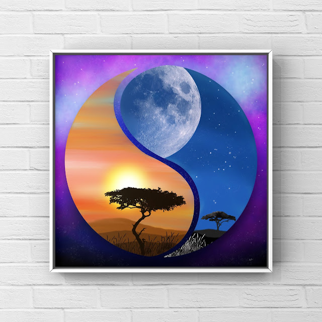 Africa yin and yang art image