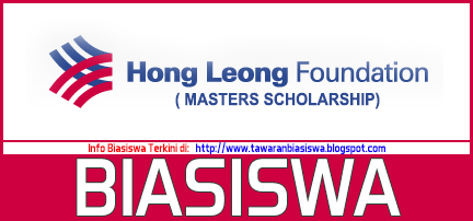 Biasiswa Hong Leong Foundation (Sarjana) 2016