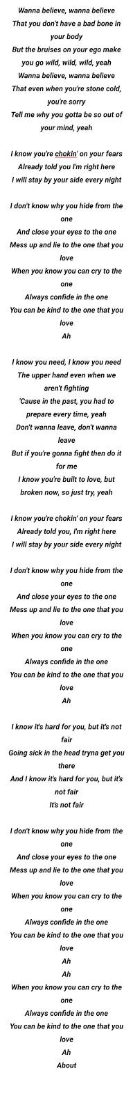 Halsey Be Kind English songs with lyrics:-
