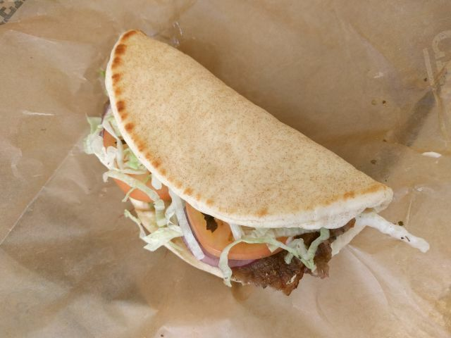 Review arby 39 s traditional greek gyro brand eating for Arby s 2 for 5 fish