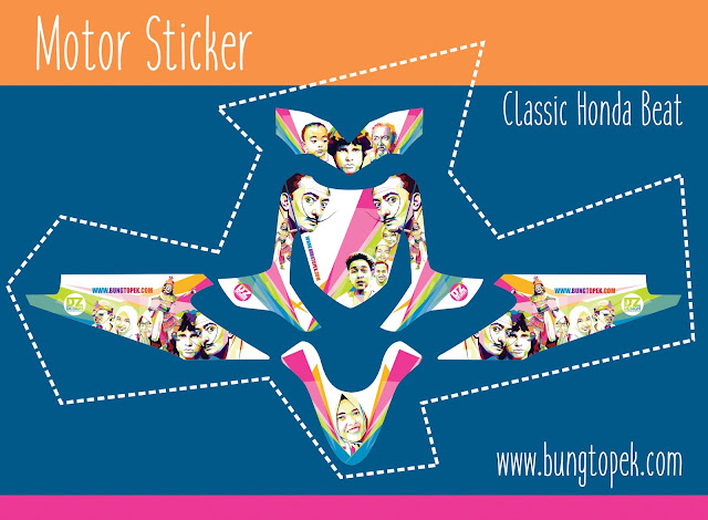 Striping Sticker Honda Beat (DZ Design Special Motor Official)