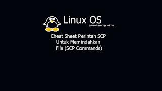 Cheat Sheet Perintah SCP Untuk Memindahkan File (SCP Commands)