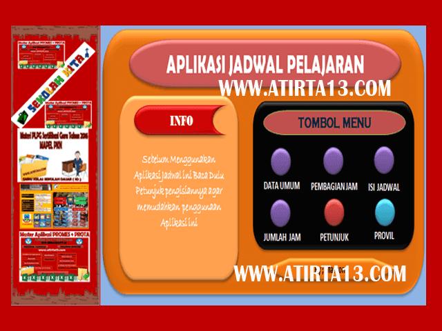 Download Contoh Jadwal Pelajaran Kurikulum 2013 Tahun Pelajaran 2018 Versi Baru