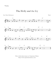 The Holly and the Ivy violin