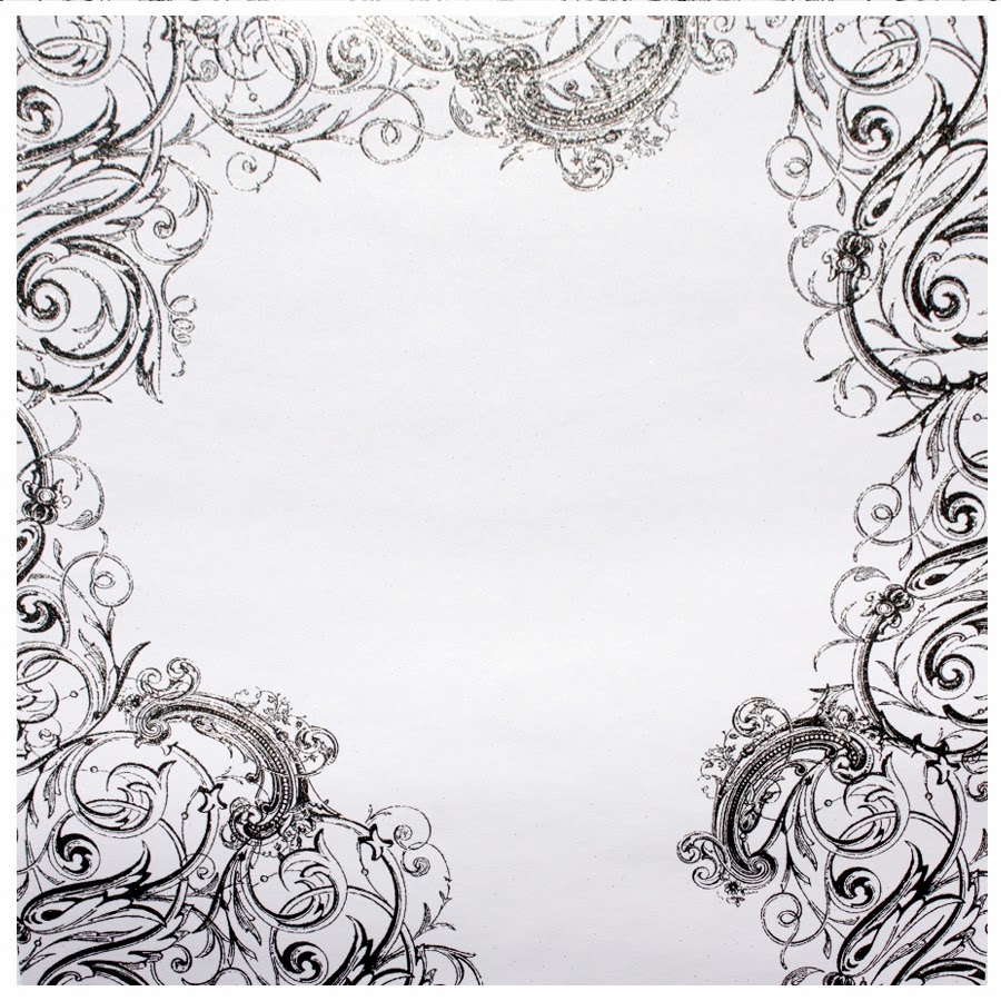 Black And White Glitter Swirl