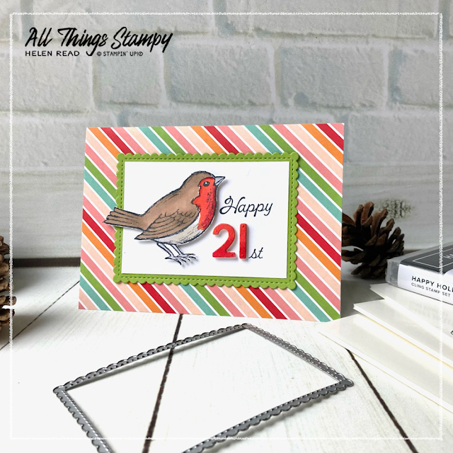 Happy Holly Days card idea Stampin' Up!