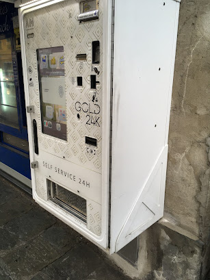 イタリアの宝くじ自販機