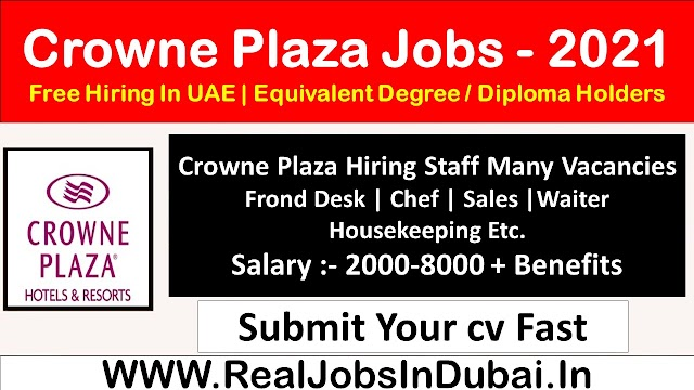 Crowne Plaza Careers Jobs Vacancies In Dubai UAE