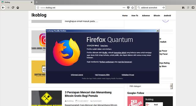 Download Versi 57.0 Terbaru Mozilla Firefox Dan Lebih Cepat