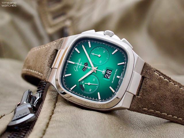 Glashütte Original Seventies Chronograph Panorama Date Green Dial