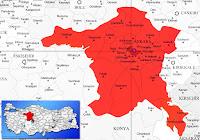 Keçiören ilçesinin nerede olduğunu gösteren harita