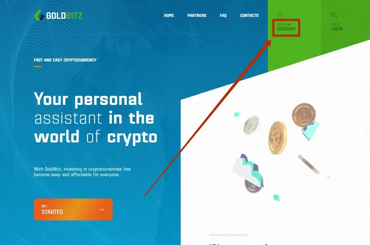Регистрация в Gold Bitz