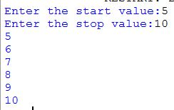 While loop Output with custom values