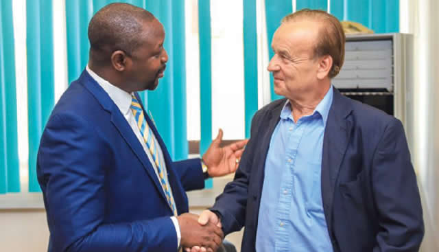 NFF can terminate Gernot Rohr's contract if he fails to meet targets - Sports Minister Sunday Dare reveals