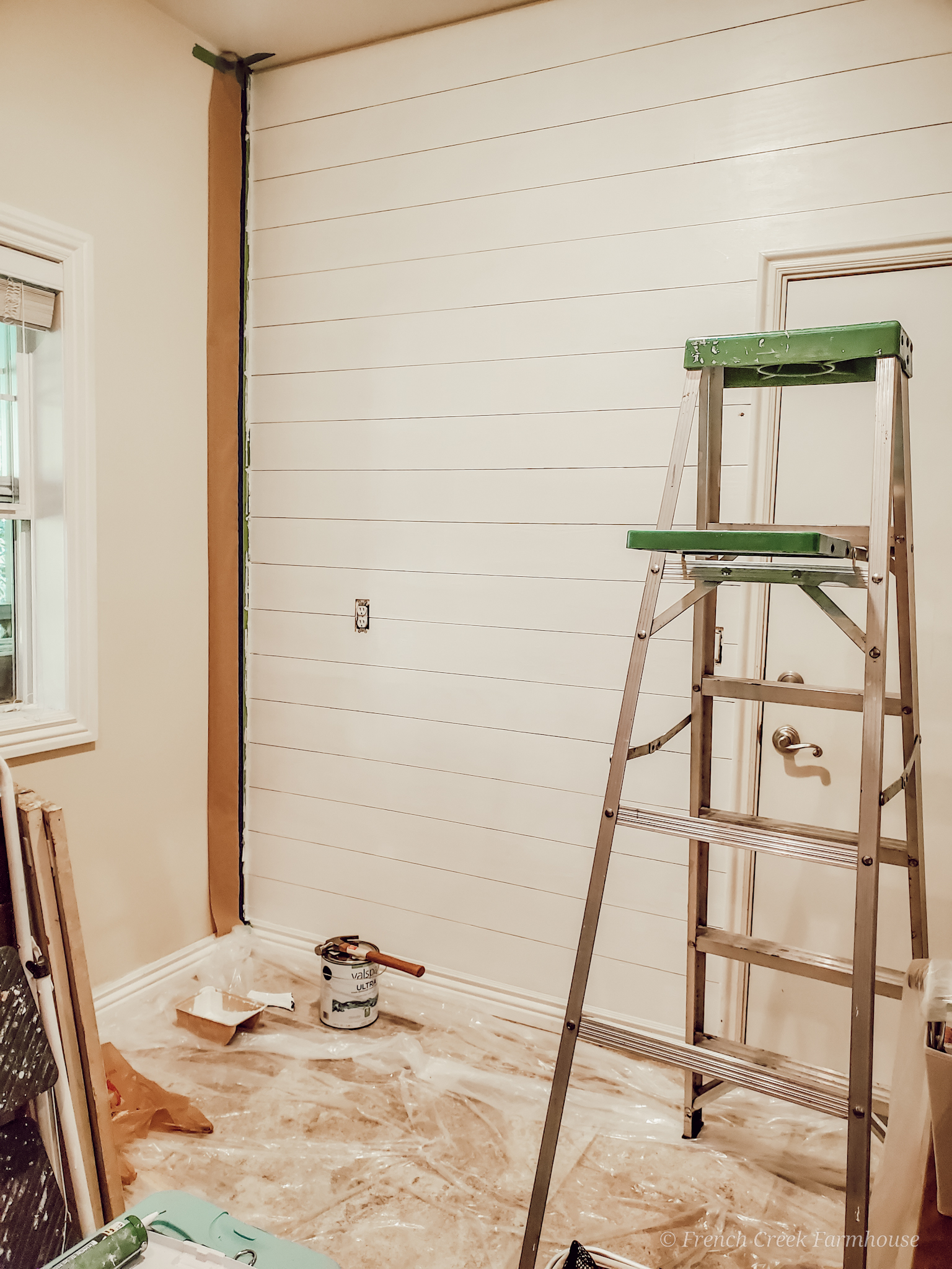 See the progress we made during Week 3 of our laundry room renovation