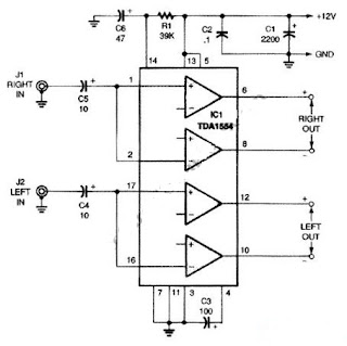 Simple 22W Amplifier for 12V Power Supply Systems