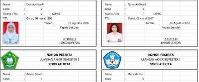 Download Aplikasi Cetak Kartu UAS Otomatis