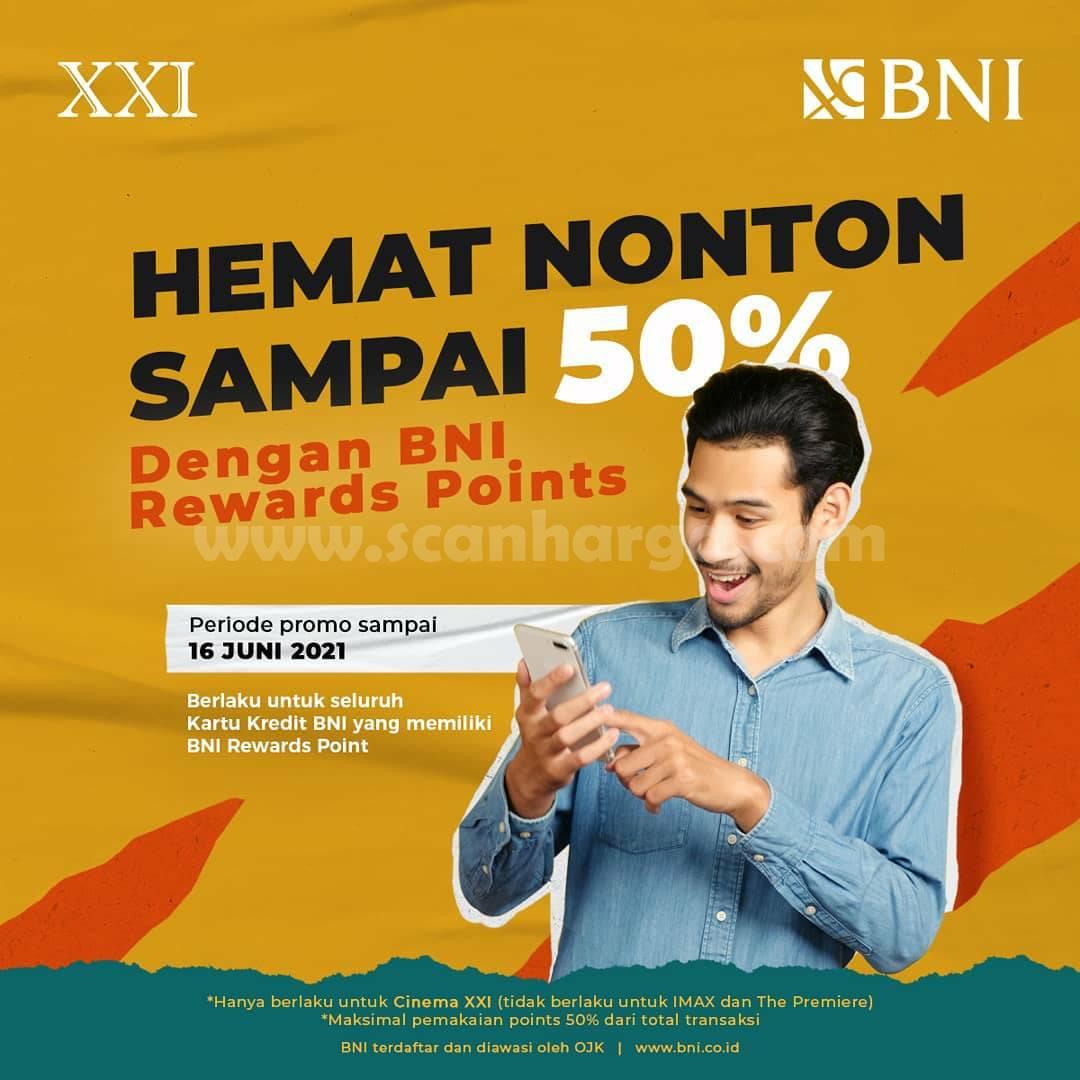 Promo CINEMA XXI Hemat Nonton hingga 50% dengan BNI Rewards Points