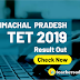 Himachal Pradesh TET 2019 Result Out : Check Now