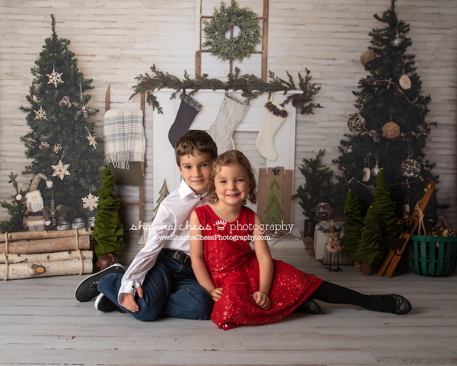 children's christmas photography