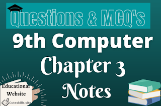 9th Computer Chapter 3 Networks Notes pdf
