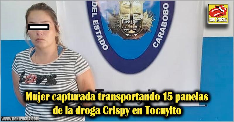 Mujer capturada transportando 15 panelas de la droga Crispy en Tocuyito
