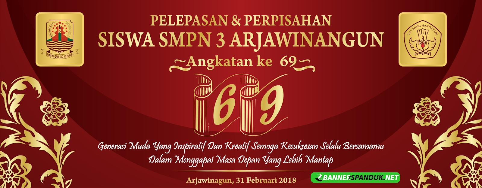 Download Banner Pelepasan Siswa kelas 6