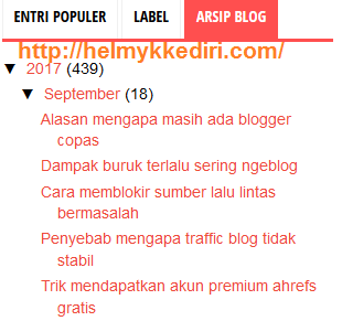 Cara memperbaiki widget arsip blog rusak