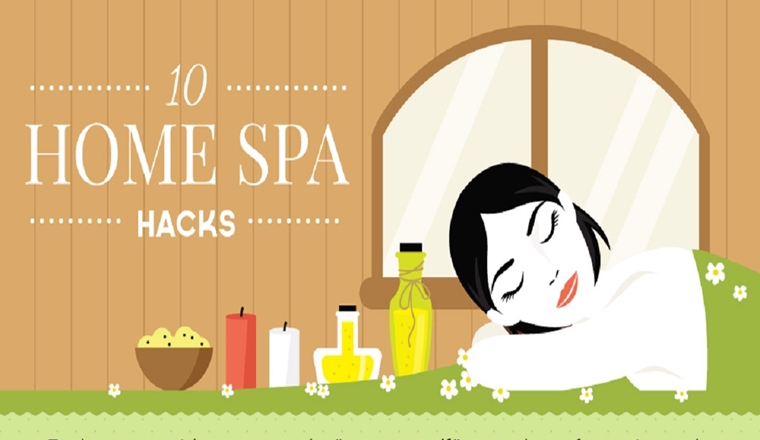 10 Home Spa Hacks #infographic