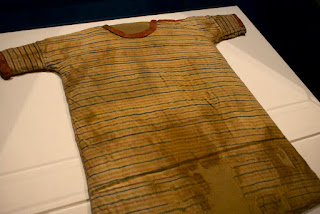 A striped tunic from Ancient Egypt at Montreal Museum of Fine Arts