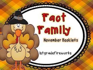 November Fact Family Booklets from TpT 1stgradefireworks