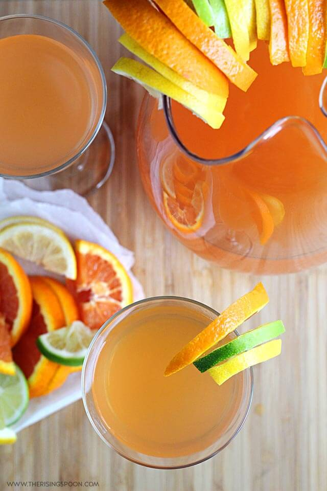 Easy & Refreshing Citrus White Wine Spritzers